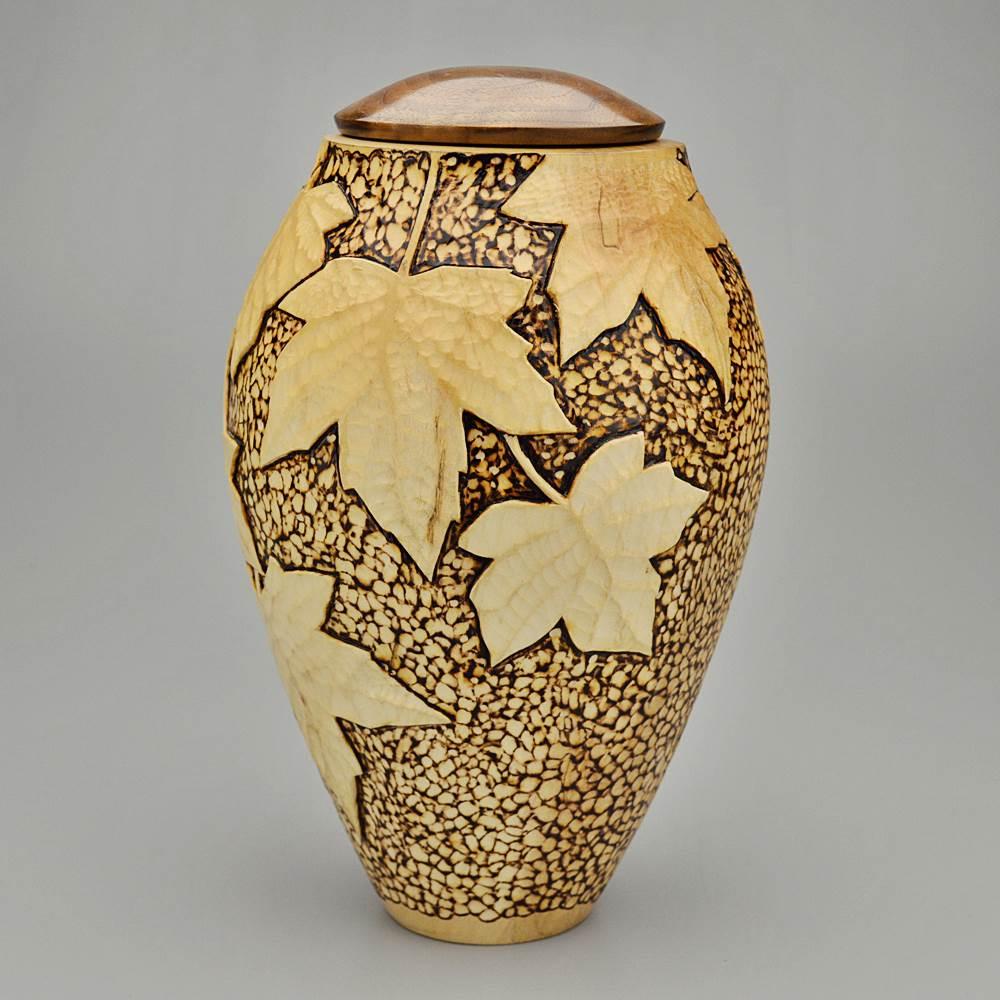 Artistic wood urns unique cremation